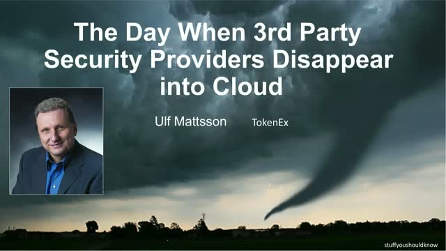 The Day When 3rd Party Security Providers Disappear into Cloud