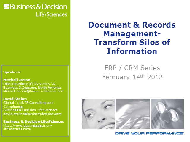 Life Sciences 4: Document & Records Management- Transform Silos of Information