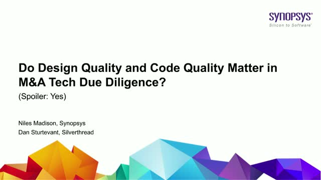 Do Design Quality and Code Quality Matter in M&A Tech Due Diligence?