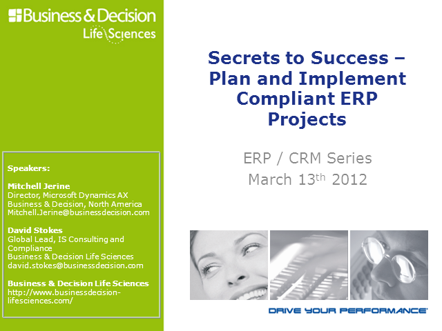 Life Sciences 5: Secrets to Success-Plan and Implement Compliant ERP Projects
