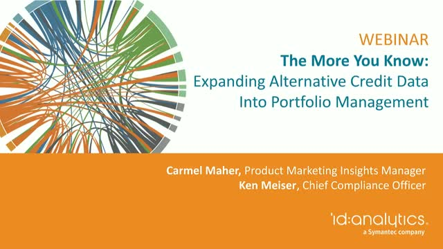 The More You Know: Expanding Alternative Credit Data into Portfolio Management