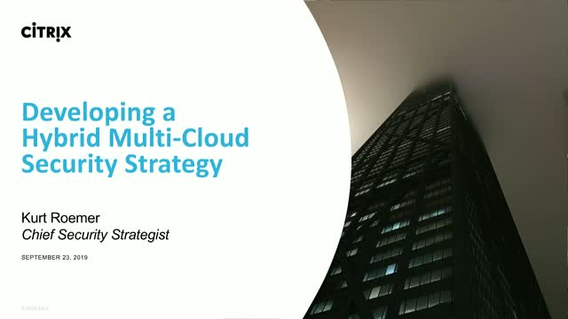 Developing a Hybrid Multi-Cloud Security Strategy