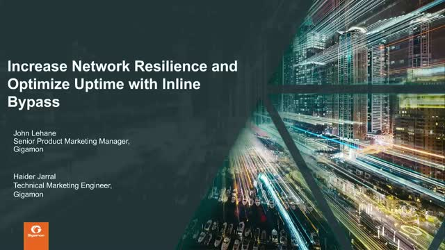 Increase Network Resilience and Optimize Uptime with Inline Bypass