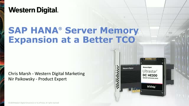 SAP HANA® Memory Expansion - On-Premises and Cloud at a Better TCO