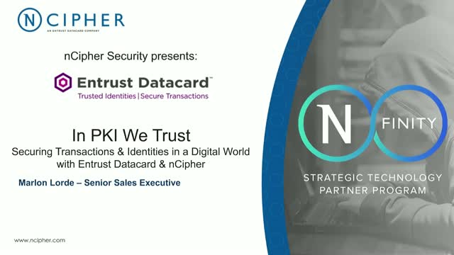 In PKI we trust securing transactions & identities in a digital world