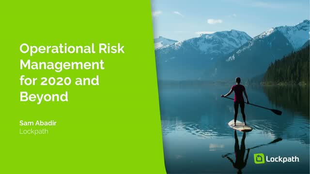 Operational Risk Management for 2020 and Beyond