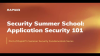 Security Fundamentals: Application Security 101