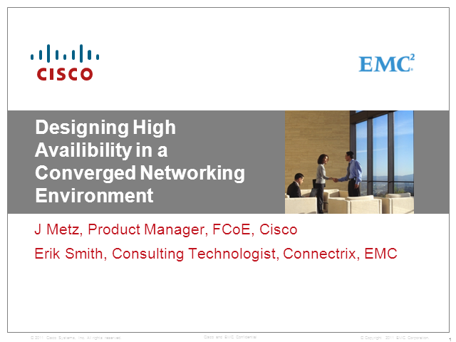Designing High Availability in a Converged Networking Environment