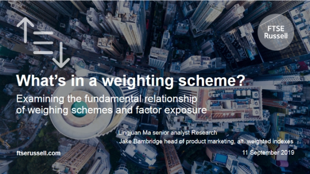 What's in a weighting scheme?