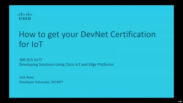 How to get your DevNet Certification for IoT