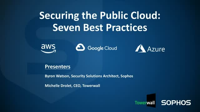 7 Best Practices for Securing the Public Cloud