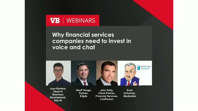 Why financial services companies need to invest in voice and chat