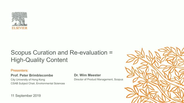 Scopus Curation and Re-evaluation = High-Quality Content