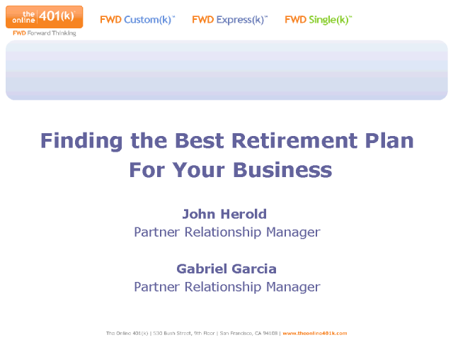 Finding the Best Retirement Plan for Your Business