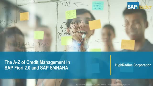 The A-Z of Credit Management in SAP Fiori 2.0 and SAP S/4HANA