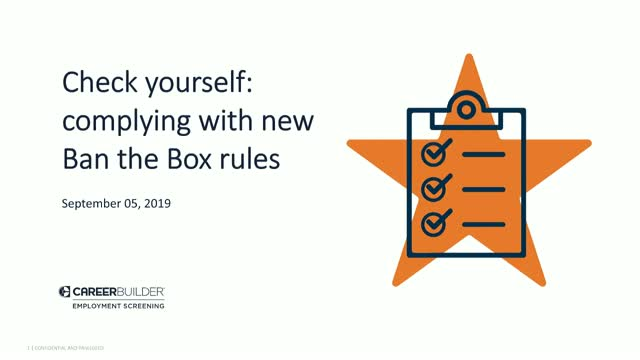 Check Yourself: Complying with New Ban the Box Rules