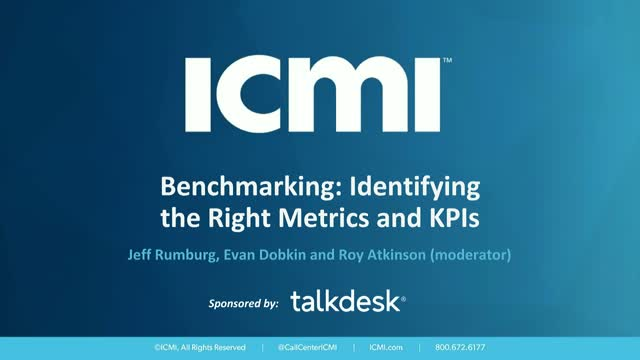 Benchmarking: Identifying the Right Metrics and KPIs