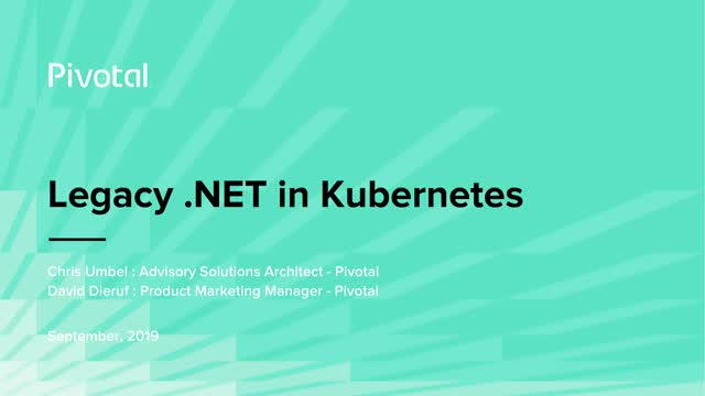 Using Windows Clusters on Kubernetes for Legacy .NET Applications