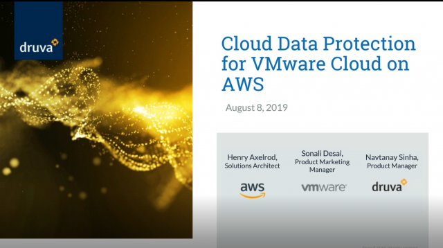 Cloud Data Protection for VMware Cloud on AWS