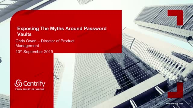 APJ: Exposing The Myths Around Passwords Vaults