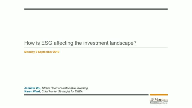 How is ESG affecting the investment landscape?