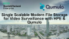 Single Scalable Modern File Storage for Video Surveillance with HPE & Qumulo
