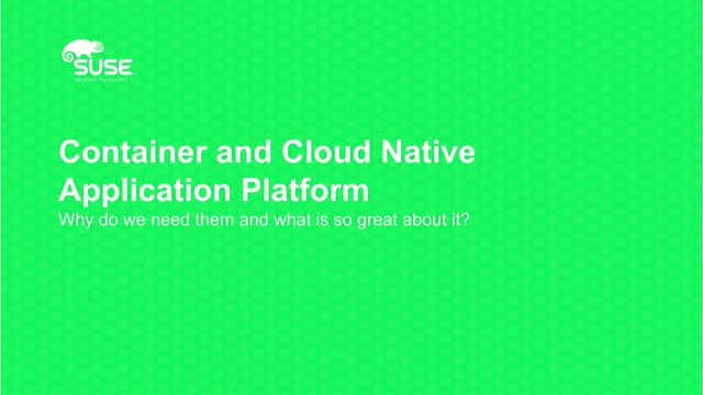 Container and Cloud Native Technologies