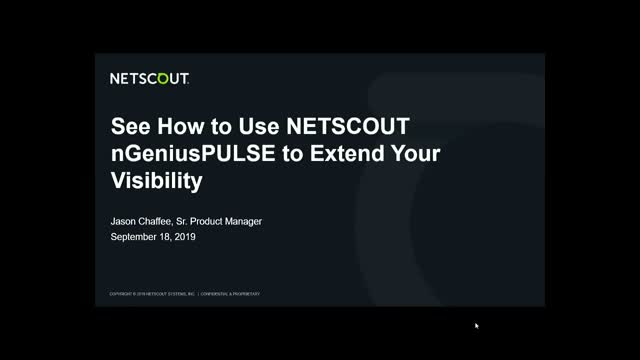 See How to Use NETSCOUT nGeniusPULSE to Extend Your Visibility
