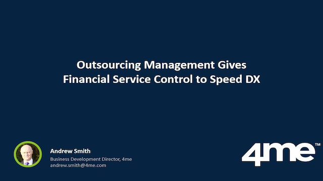 Outsourcing Management Gives FinServ Control to Speed Digital Transformation