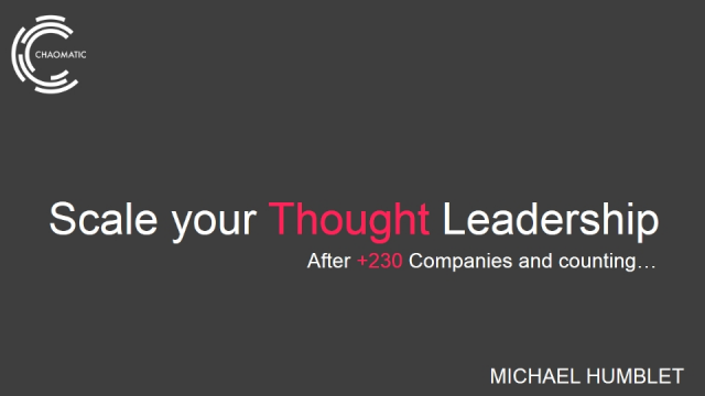 How to Scale Your Thought Leadership by Building a Content Machine