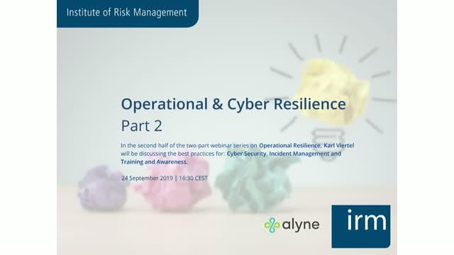 Operational and Cyber Resilience Part 2