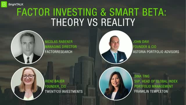[PANEL] Factor Investing & Smart Beta: Theory vs Reality