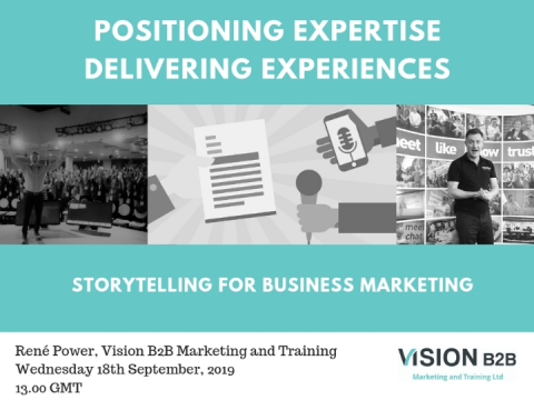 Positioning expertise and delivering experiences in business marketing