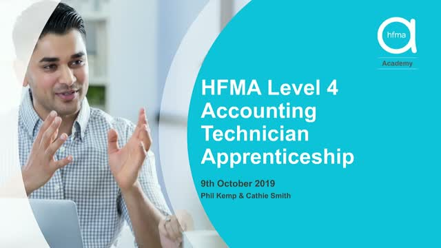 A walk through the HFMA's level 4 apprenticeship programme