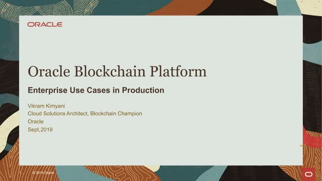 Enterprise Blockchain Use Cases in Production