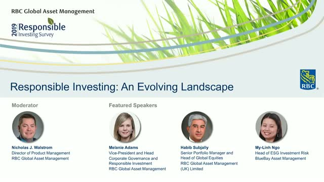 2019 Responsible Investing Survey: An Evolving Landscape