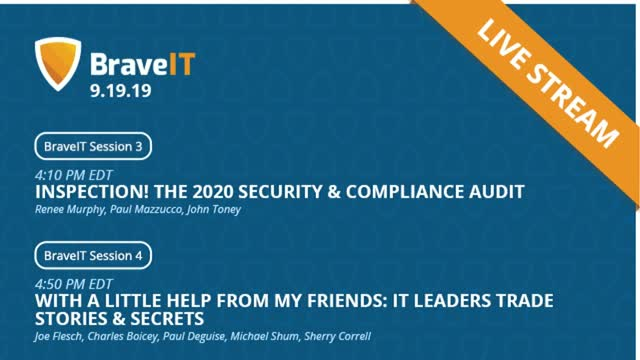 Cybersecurity, Compliance, and IT War Stories | BraveIT Livestream
