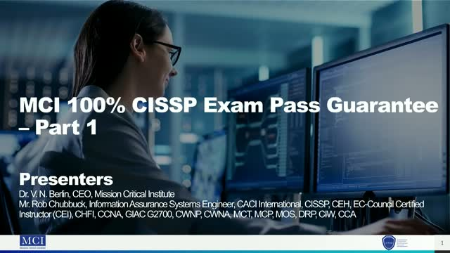 MCI 100% CISSP Exam Pass Guarantee – Part 1