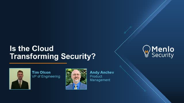 How Is the Cloud Transforming Security?