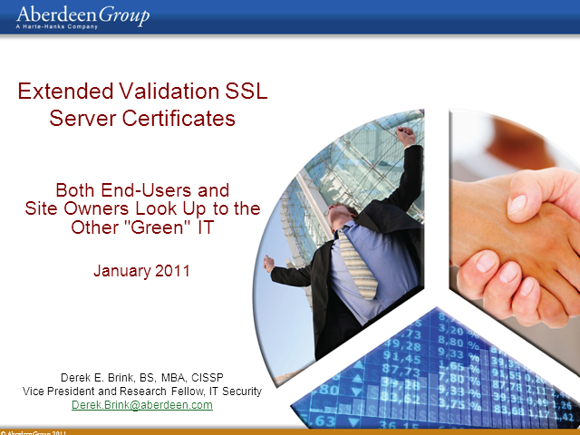"""EV SSL Server Certificates: Looking Up to the Other """"Green"""" IT"""
