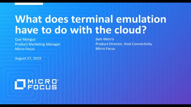 What does terminal emulation have to do with the cloud?
