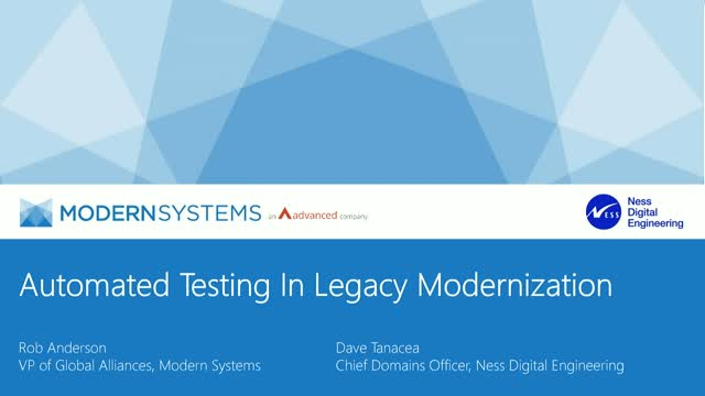 The Role of Automated Testing In Legacy Modernization