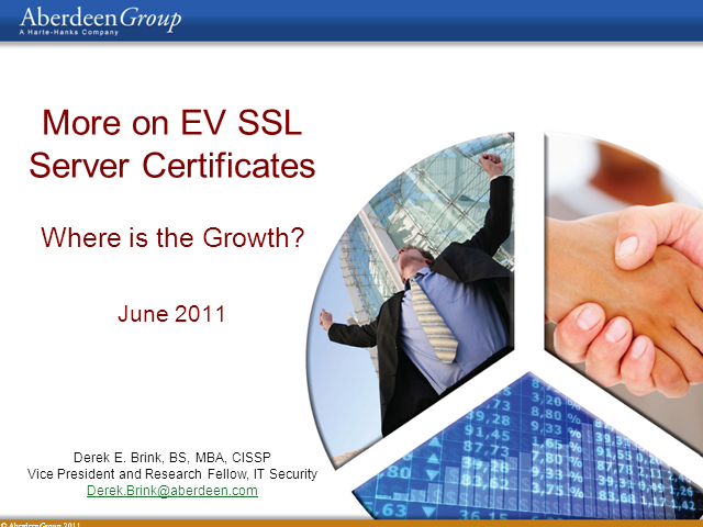 More on EV SSL Server Certificates: Where is the Growth?