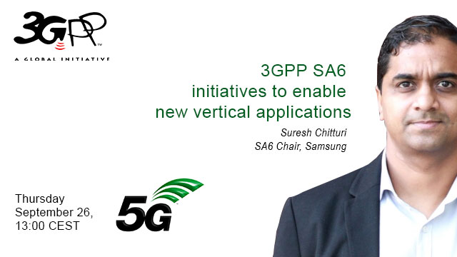 3GPP SA6 initiatives to enable new vertical applications