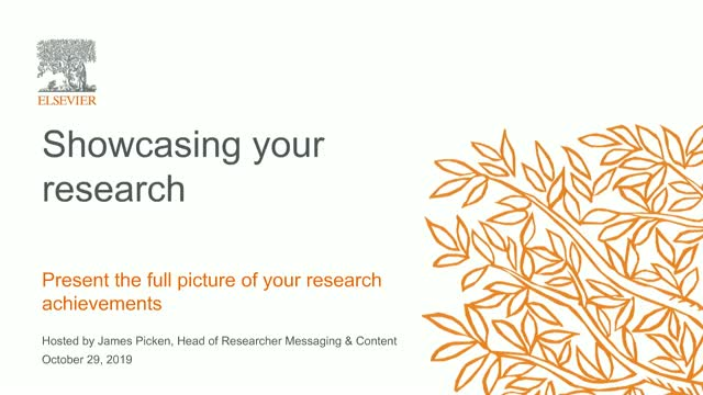 Showcasing your research: Present the full picture of your research achievements