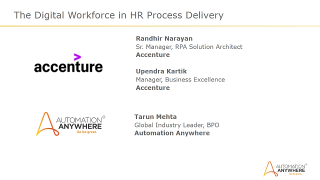 The Digital Workforce in HR Process Delivery
