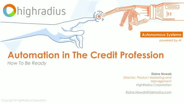 Automation in The Credit Profession - How To Be Ready?
