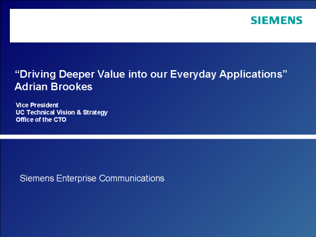 Driving Deeper Value into our Everyday Applications