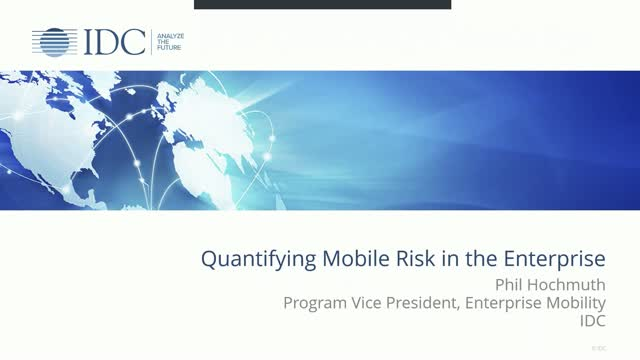 Quantifying Mobile Risk in the Enterprise