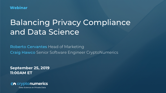 Balancing Privacy Compliance and Data Science